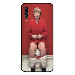 Durable Angela Merkel On The Toilet Cover For Samsung Galaxy A70s