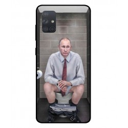 Durable Vladimir Putin On The Toilet Cover For Samsung Galaxy A71