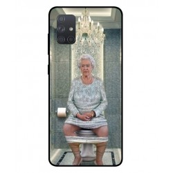 Durable Queen Elizabeth On The Toilet Cover For Samsung Galaxy A71