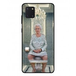 Durable Queen Elizabeth On The Toilet Cover For Samsung Galaxy Note 10 Lite