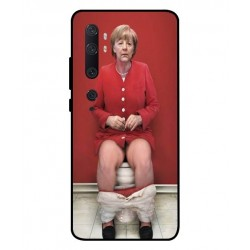 Durable Angela Merkel On The Toilet Cover For Xiaomi Mi Note 10