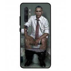 Durable Obama On The Toilet Cover For Xiaomi Mi Note 10