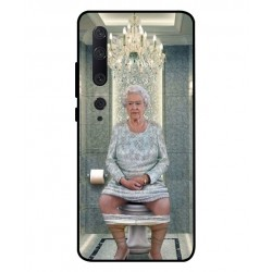 Durable Queen Elizabeth On The Toilet Cover For Xiaomi Mi Note 10