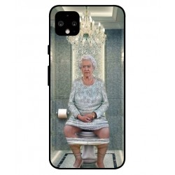 Durable Queen Elizabeth On The Toilet Cover For Google Pixel 4 XL