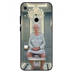 Durable Queen Elizabeth On The Toilet Cover For Huawei Y6s 2019