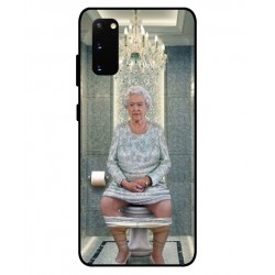 Durable Queen Elizabeth On The Toilet Cover For Samsung Galaxy S20