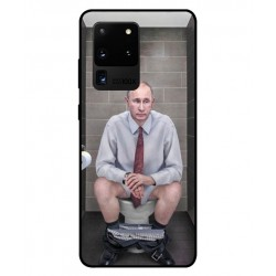 Durable Vladimir Putin On The Toilet Cover For Samsung Galaxy S20 Ultra