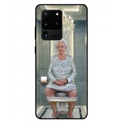 Durable Queen Elizabeth On The Toilet Cover For Samsung Galaxy S20 Ultra
