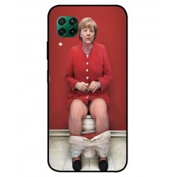 Durable Angela Merkel On The Toilet Cover For Huawei P40 Lite