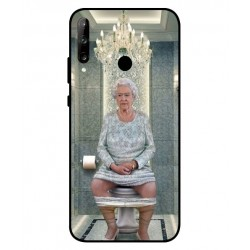 Durable Queen Elizabeth On The Toilet Cover For Huawei P40 Lite E
