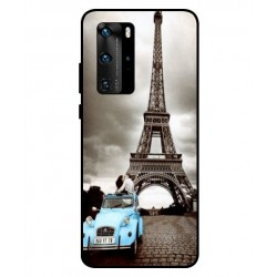 Durable Paris Eiffel Tower Cover For Huawei P40 Pro