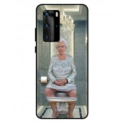 Durable Queen Elizabeth On The Toilet Cover For Huawei P40 Pro