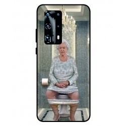 Durable Queen Elizabeth On The Toilet Cover For Huawei P40 Pro Plus