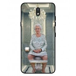 Durable Queen Elizabeth On The Toilet Cover For LG K30 2019