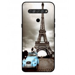 Durable Paris Eiffel Tower Cover For LG K51S