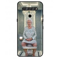 Durable Queen Elizabeth On The Toilet Cover For LG K51S