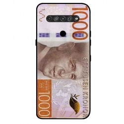 Durable 1000Kr Sweden Note Cover For LG K61