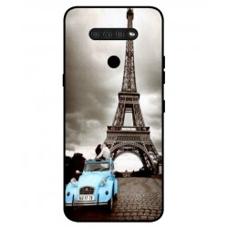 Durable Paris Eiffel Tower Cover For LG Q51