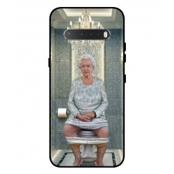 Durable Queen Elizabeth On The Toilet Cover For LG V60 ThinQ 5G