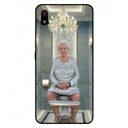Durable Queen Elizabeth On The Toilet Cover For LG W10 Alpha