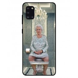 Durable Queen Elizabeth On The Toilet Cover For Samsung Galaxy A31