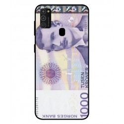 1000 Norwegian Kroner Note Cover For Samsung Galaxy M21