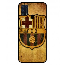 Durable FC Barcelona Cover For Samsung Galaxy M31