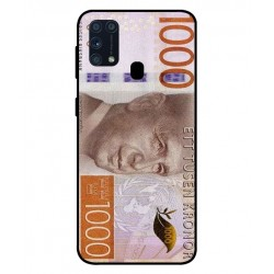 Durable 1000Kr Sweden Note Cover For Samsung Galaxy M31