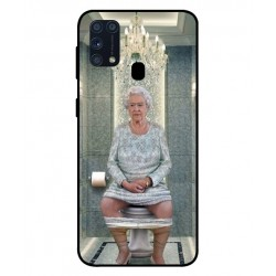 Durable Queen Elizabeth On The Toilet Cover For Samsung Galaxy M31