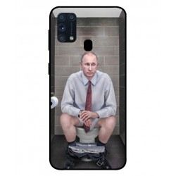Durable Vladimir Putin On The Toilet Cover For Samsung Galaxy M31