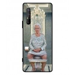 Durable Queen Elizabeth On The Toilet Cover For Sony Xperia 1 II