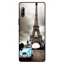 Durable Paris Eiffel Tower Cover For Sony Xperia 10 II