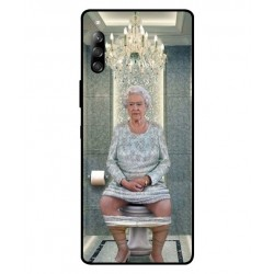 Durable Queen Elizabeth On The Toilet Cover For Sony Xperia 10 II
