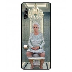 Durable Queen Elizabeth On The Toilet Cover For Sony Xperia L4