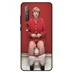 Durable Angela Merkel On The Toilet Cover For Xiaomi Mi 10 Pro 5G