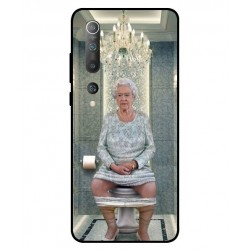 Durable Queen Elizabeth On The Toilet Cover For Xiaomi Mi 10 Pro 5G