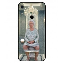 Durable Queen Elizabeth On The Toilet Cover For Huawei Honor 8A 2020