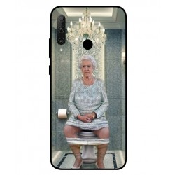 Durable Queen Elizabeth On The Toilet Cover For Huawei Honor 20e