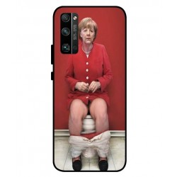 Durable Angela Merkel On The Toilet Cover For Huawei Honor 30 Pro