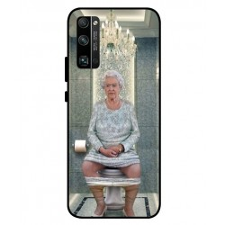 Durable Queen Elizabeth On The Toilet Cover For Huawei Honor 30 Pro Plus