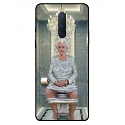Durable Queen Elizabeth On The Toilet Cover For OnePlus 8