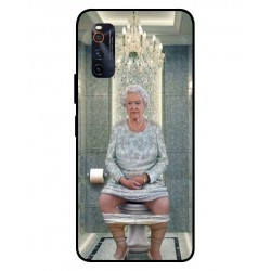 Durable Queen Elizabeth On The Toilet Cover For Vivo iQOO Neo 3
