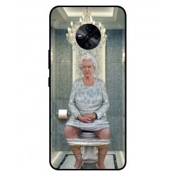 Durable Queen Elizabeth On The Toilet Cover For Vivo S6 5G