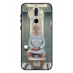 Durable Queen Elizabeth On The Toilet Cover For ZTE Blade Max View