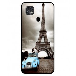 Durable Paris Eiffel Tower Cover For ZTE Blade 20