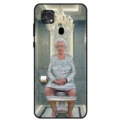 Durable Queen Elizabeth On The Toilet Cover For ZTE Blade 20