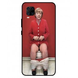 Durable Angela Merkel On The Toilet Cover For ZTE Axon 11 5G