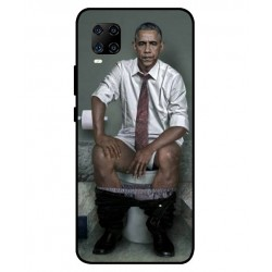 Durable Obama On The Toilet Cover For ZTE Axon 11 5G