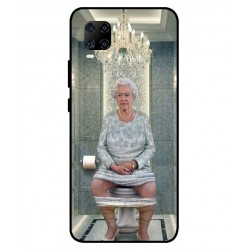 Durable Queen Elizabeth On The Toilet Cover For ZTE Axon 11 5G