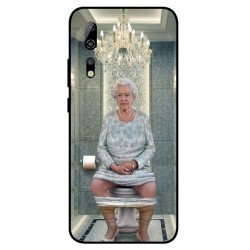 Durable Queen Elizabeth On The Toilet Cover For ZTE Axon 10s Pro 5G